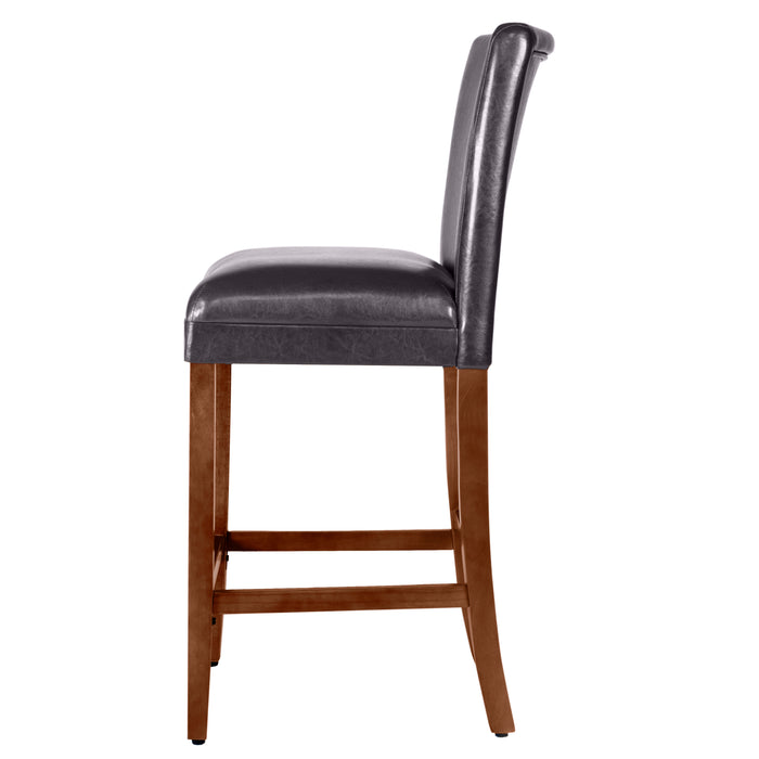 "29"" Barstool - Luxury Brown Faux Leather"