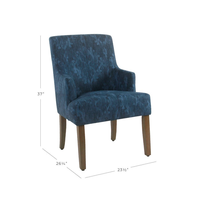 Anywhere Dining Chair - Patterned Indigo
