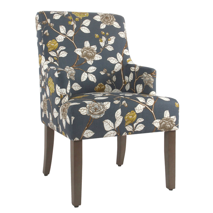 Anywhere Dining Chair - Navy Floral