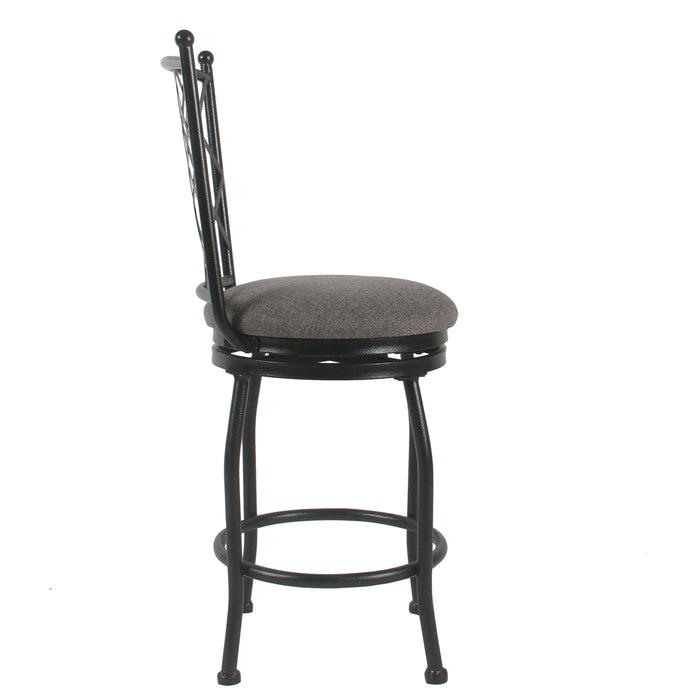 "24"" Metal Counter Stool - Gray Woven"