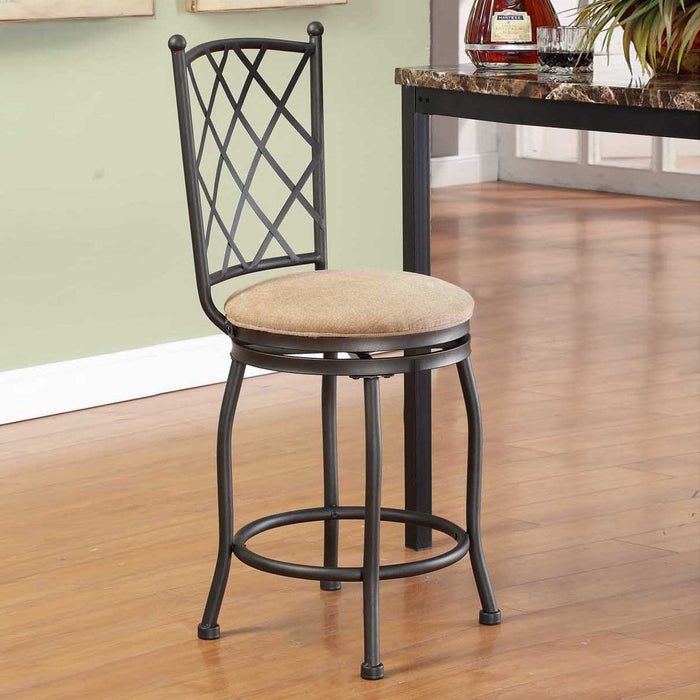 "24"" Metal Counter Stool - Tan Woven"