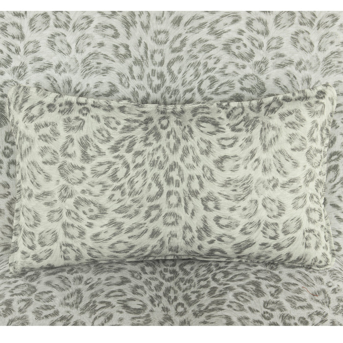Parker Accent Chair with pillow - Gray Cheetah