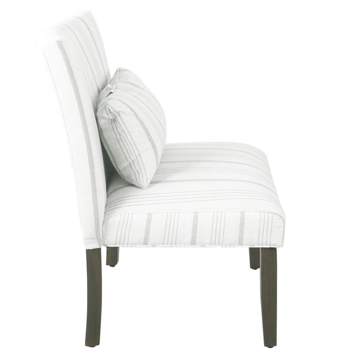 Accent Chair and Pillow - Dove Gray Stripe
