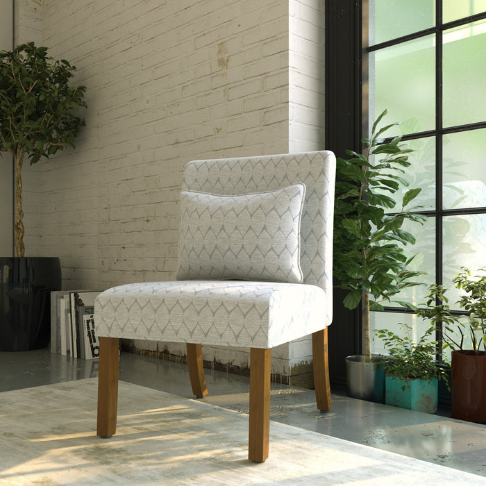 Parker Accent Chair with Pillow - Textured Gray