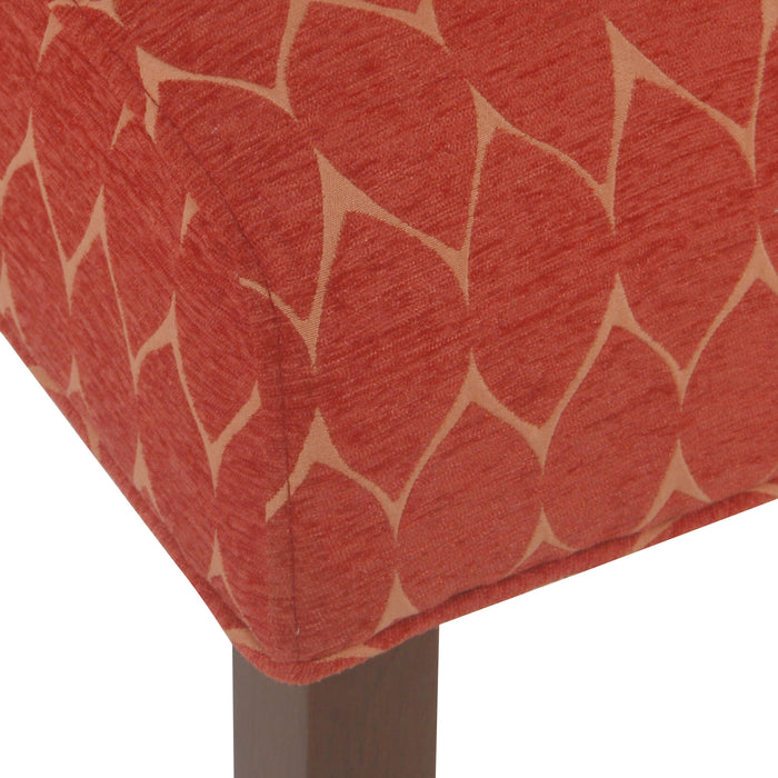 Parker Accent Chair with Pillow - Textured Melon