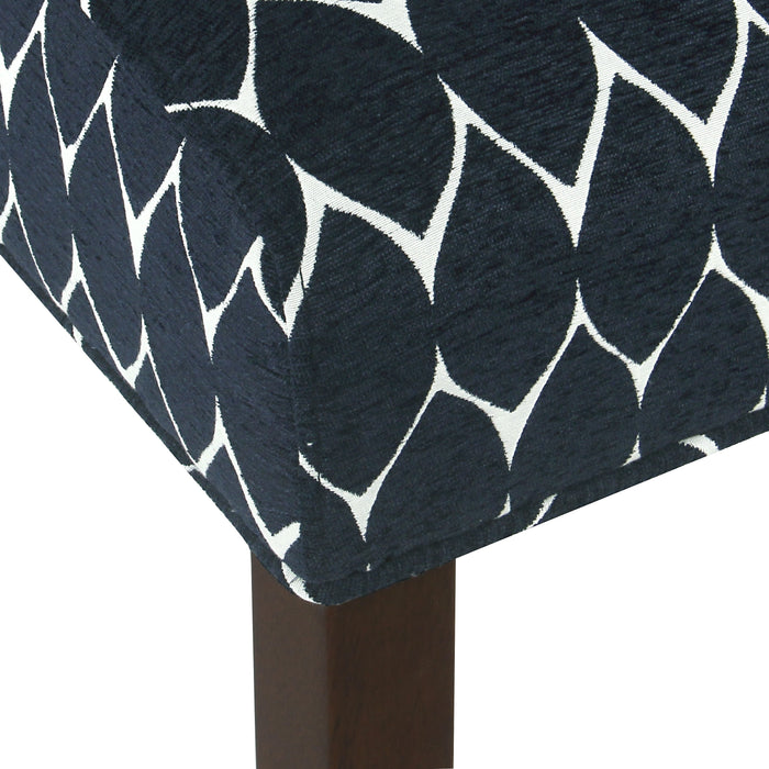Parker Accent Chair with Pillow - Textured Navy