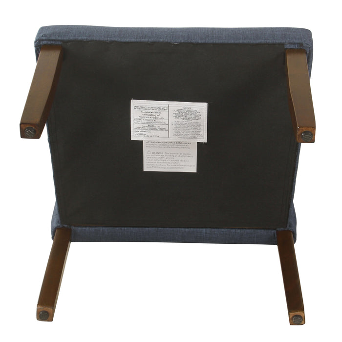Accent Chair and Pillow - Navy Blue