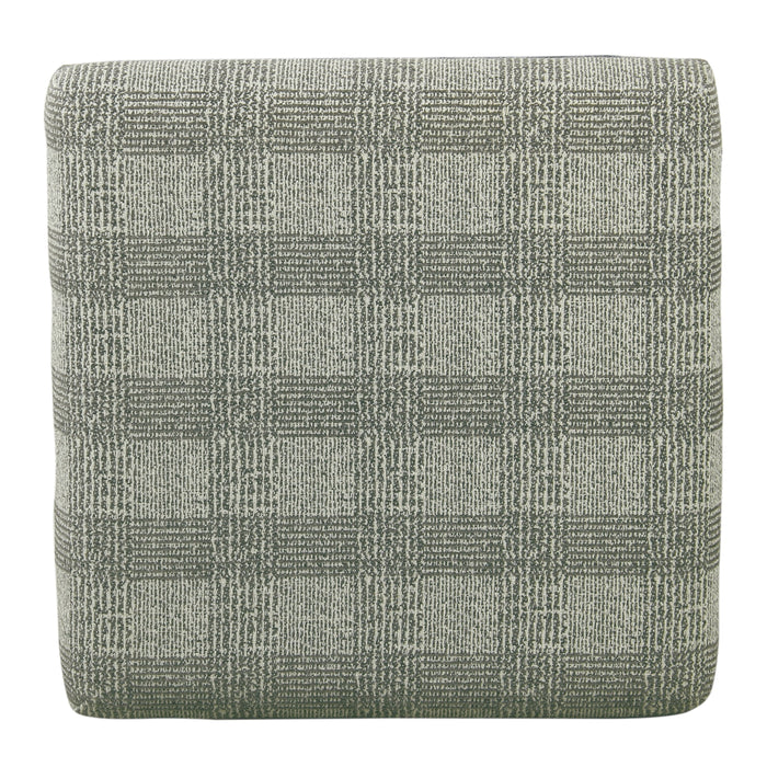 Cinch Storage Ottoman with Nail heads - Light Gray Plaid