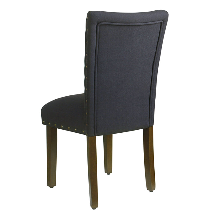 Classic Parsons Chair with Nailhead Trim - Deep Navy - Set of 2