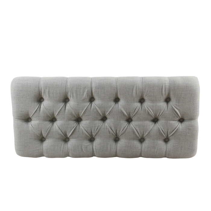 HomePop Ainsley Button Tufted Storage Bench - Light Blue