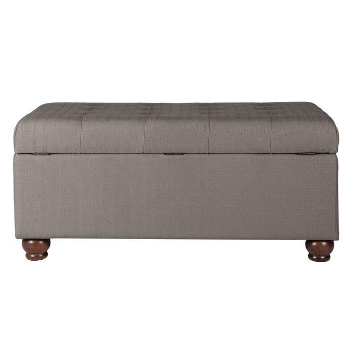 Tufted Storage Bench - Textured Brown