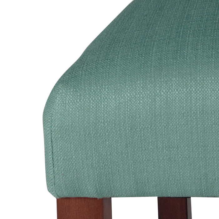 4-button Tufted Textured Parsons Chair - Aqua Woven - Set of 2