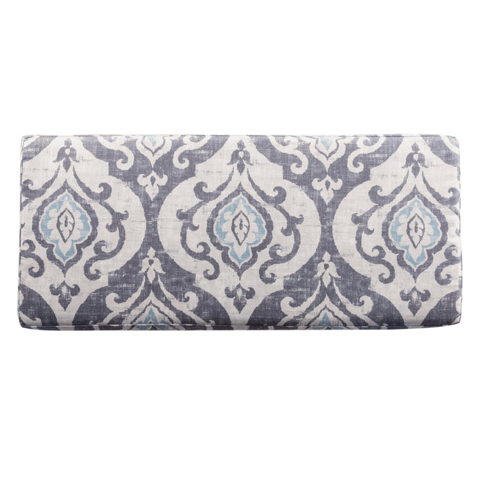 Large Decorative Storage Bench - Suri Blue