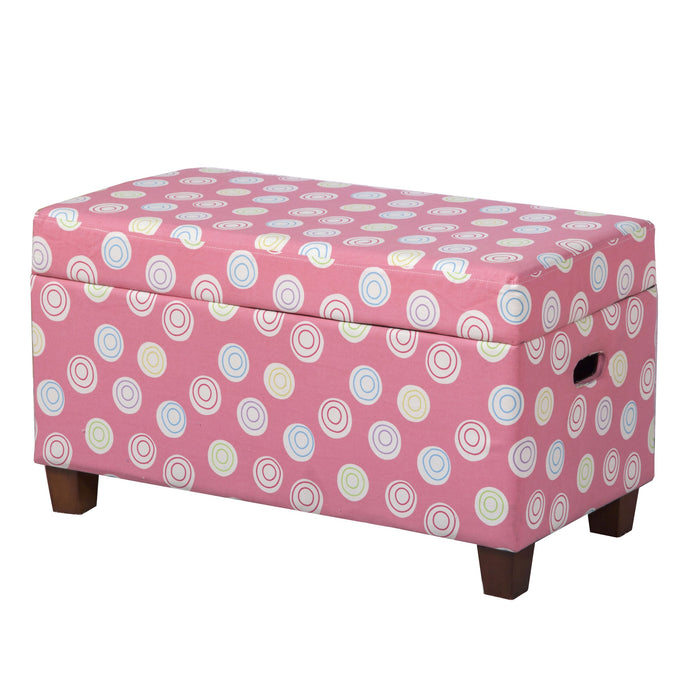 Deluxe Storage Bench - Pink Dots