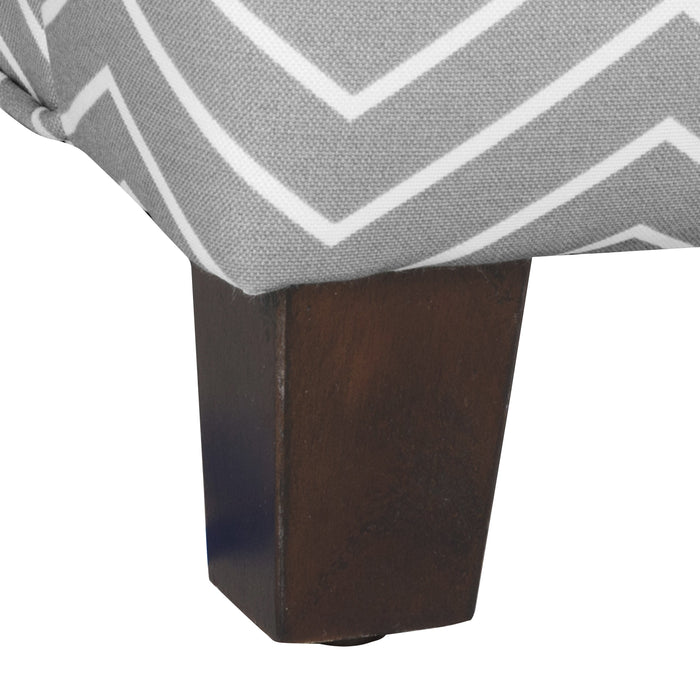 Kid's  Swoop Arm Accent Chair - Gray Chevron
