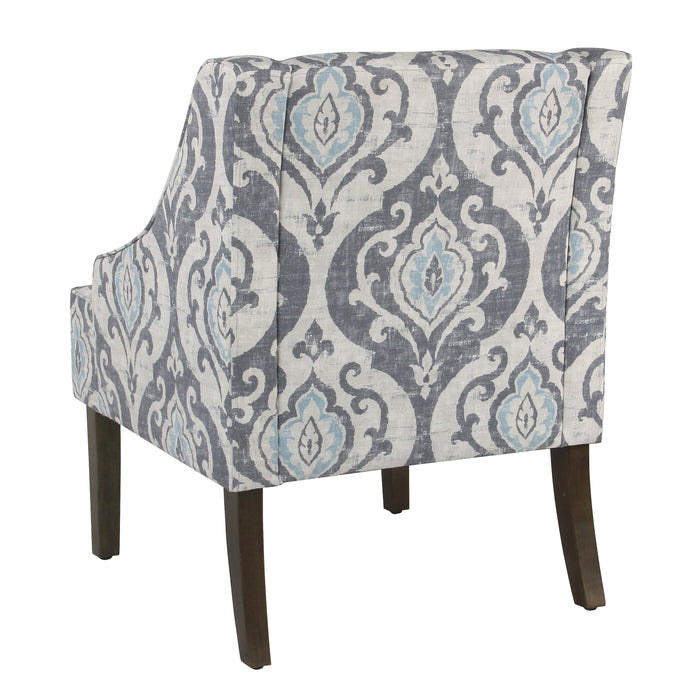 Classic Swoop Accent Chair - Suri Blue