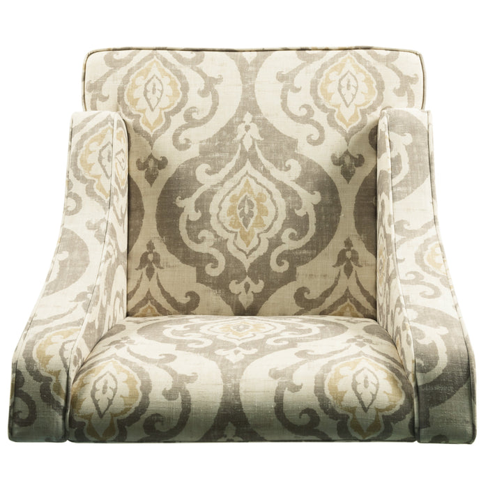 Classic Swoop Accent Chair - Suri Brown