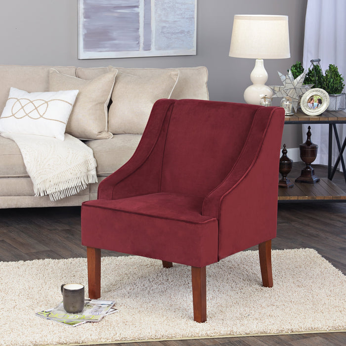 Swoop Arm Velvet Accent Chair