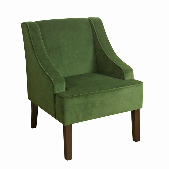 Velvet Swoop Arm Accent Chair