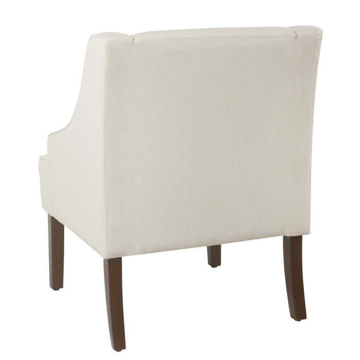 Classic Swoop Arm Accent Chair - Cream