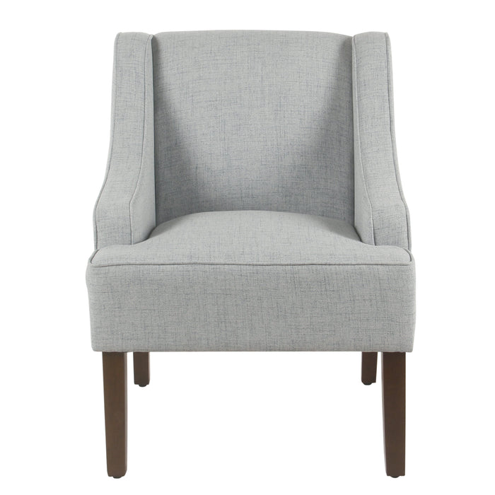 Classic Swoop Arm Accent Chair - Light Blue