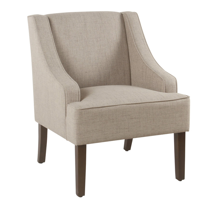 Classic Swoop Arm Accent Chair - Tan