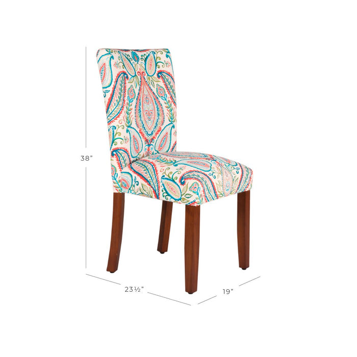 Classic Parsons Dining Chair - Paisley - Set of 2