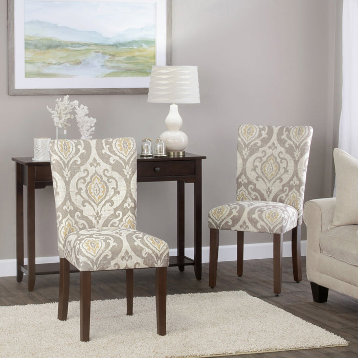 Classic Parsons Dining Chair - Suri Brown -  Set of 2