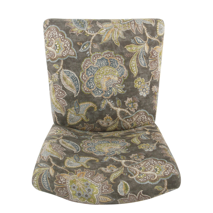 Classic Parsons Dining Chair - Gray Floral -  Set of 2