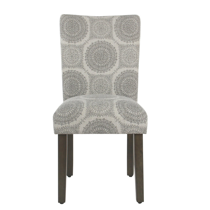 Classic Parsons Dining Chair - Gray Medallion -Set of 2