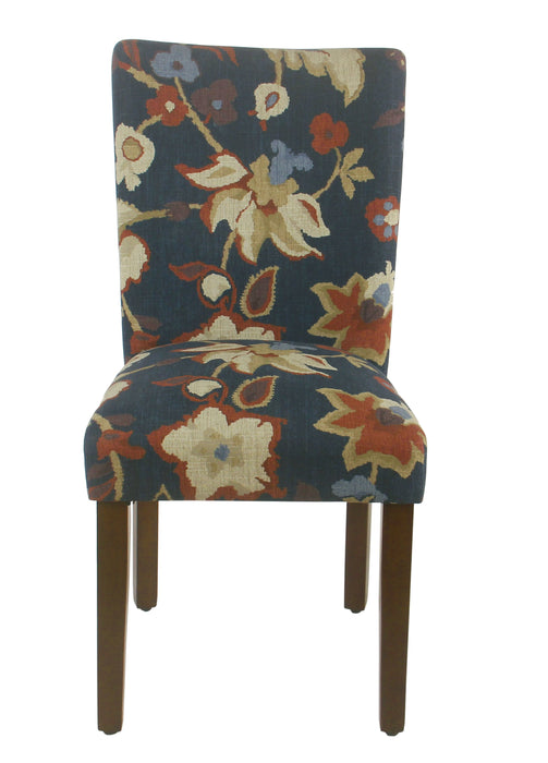 Classic Parsons Dining Chair -Navy Floral - Set of 2