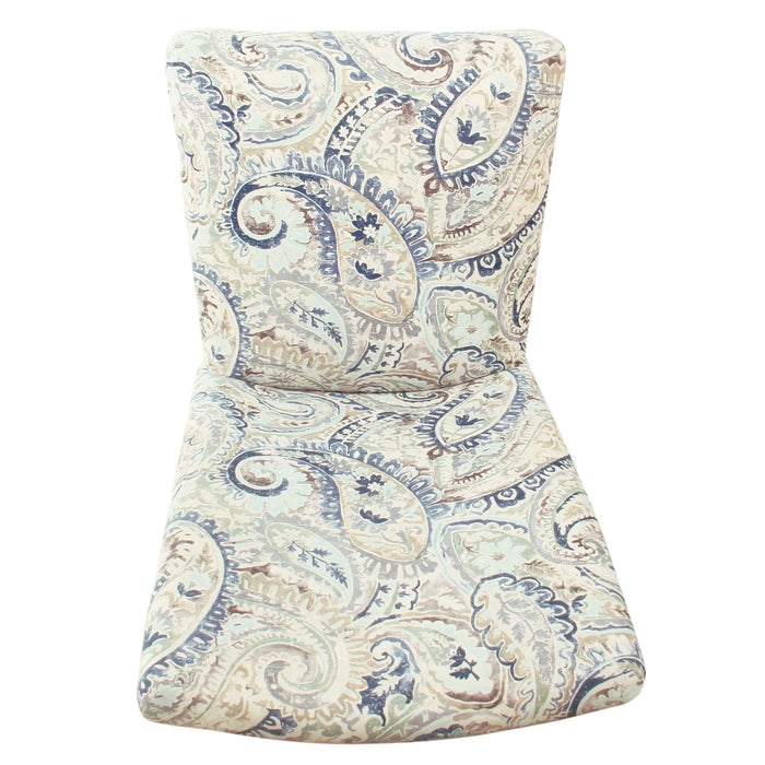 HomePop Classic Parsons Dining Chair - Blue Velvet Paisley Print (Set of 2)