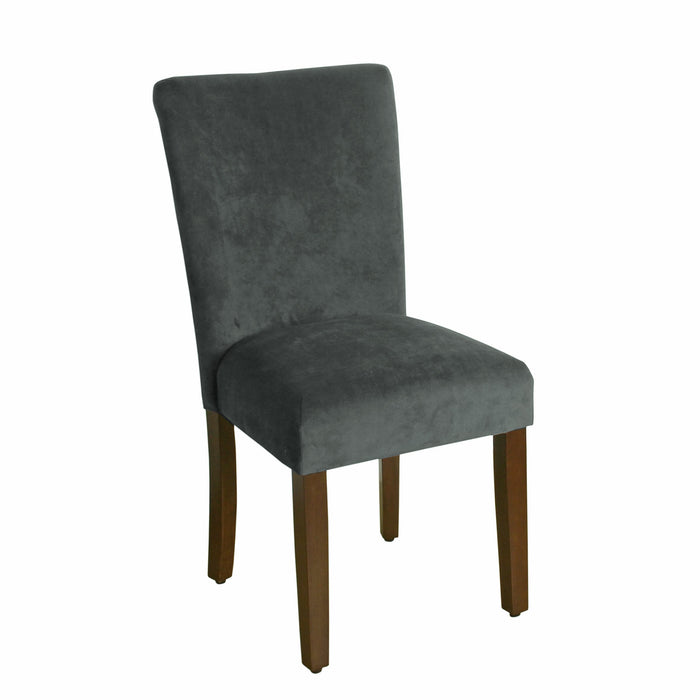 Velvet Parson Dining Chair - Dark Gray - Set of 2