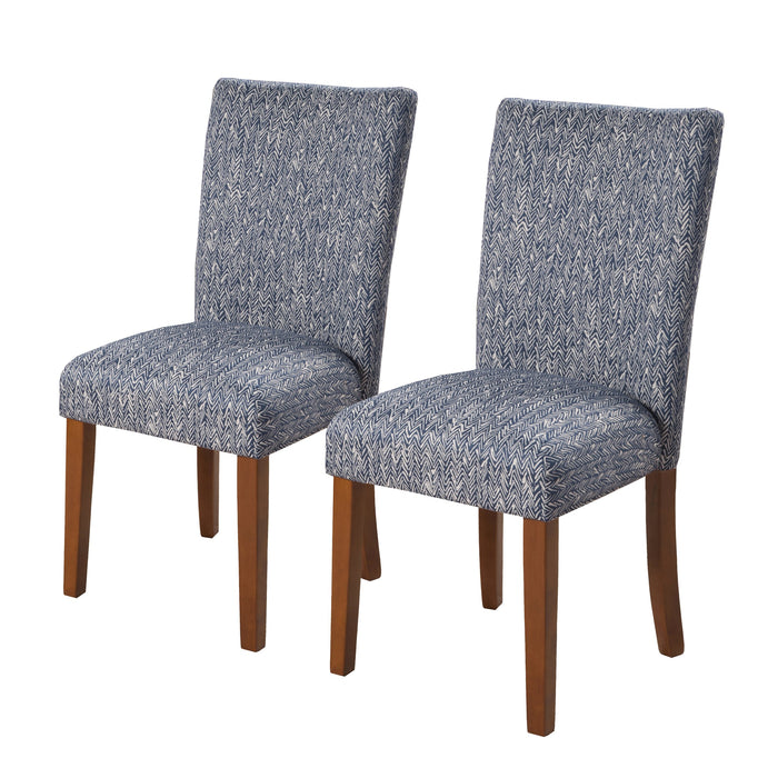 Classic Parsons Dining Chair - Blue Woven -  Set of 2