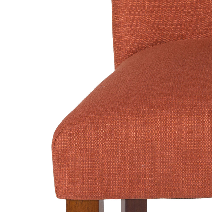Classic Parsons Dining Chair - Textured Orange (Single Pack)
