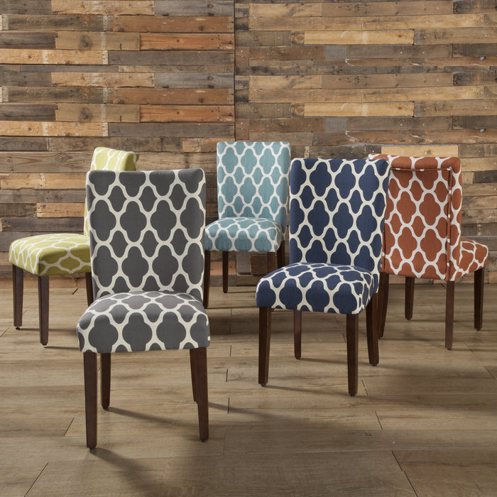 Classic Parsons Dining Chair -  Geo Warm Gray - Set of 2