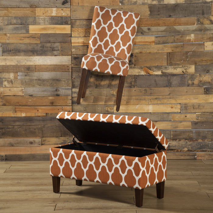 Classic Parsons Dining Chair - Geo Orange - Set of 2