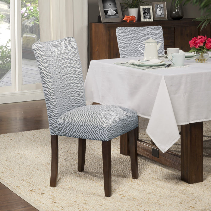 Classic Parsons Dining Chair- Light Blue -  Set of 2