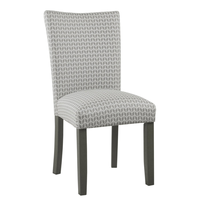 Classic Parsons Dining Chair  - Taupe Geometric - Set of 2