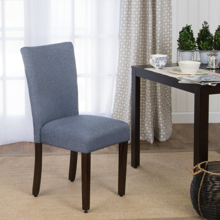 Classic Parsons Dining Chair - Blue Woven (Single Pack)