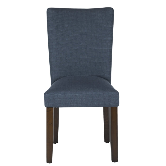 Classic Parsons Dining Chair - Textured Navy Blue (Single Pack)