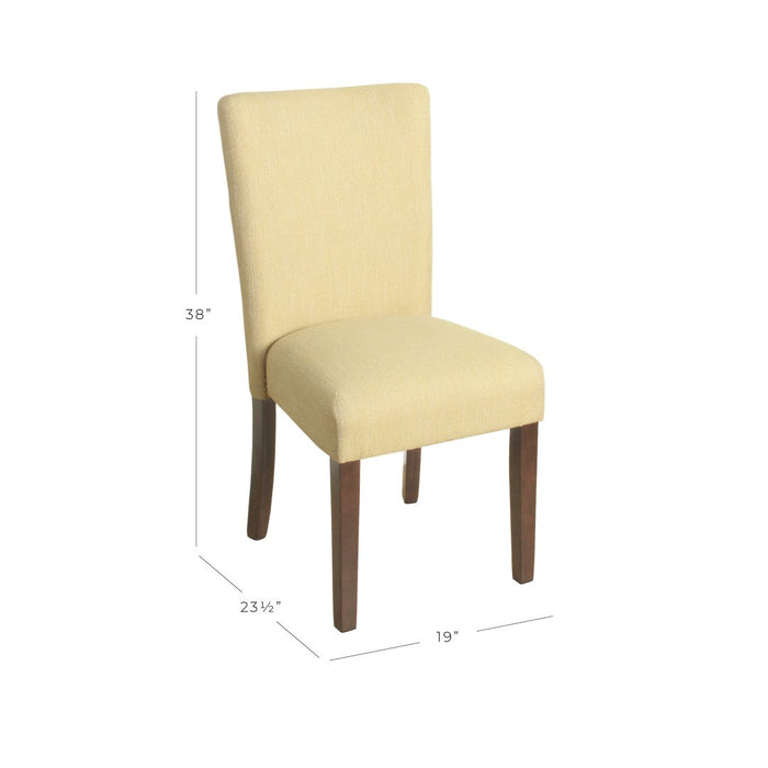 Classic Parsons Dining Chair - Yellow Tweed