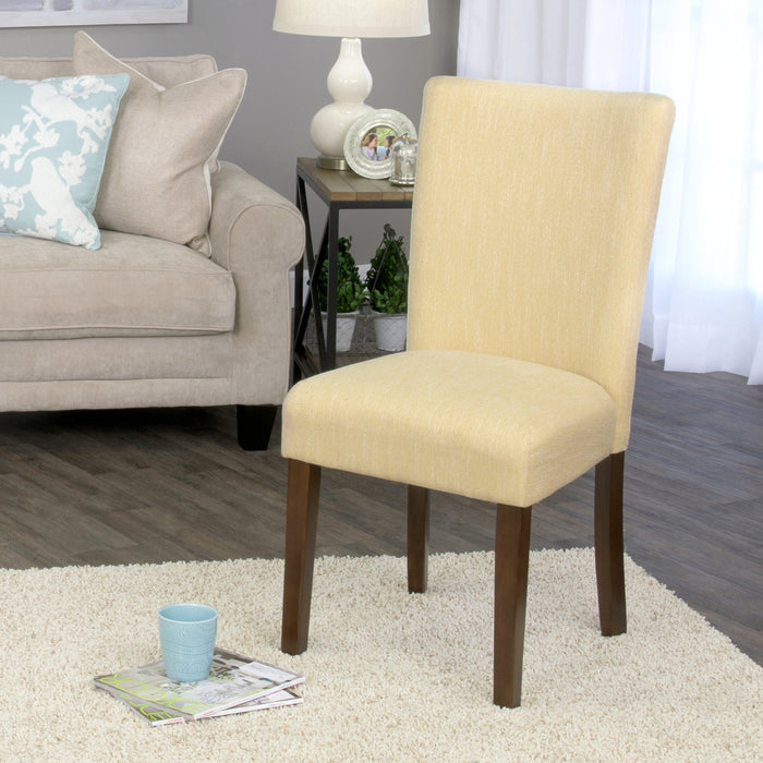 Classic Parsons Dining Chair - Yellow Tweed (Single Pack)