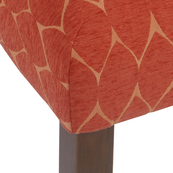 Textured Parsons Chair - Orange Geometric - Set of 2