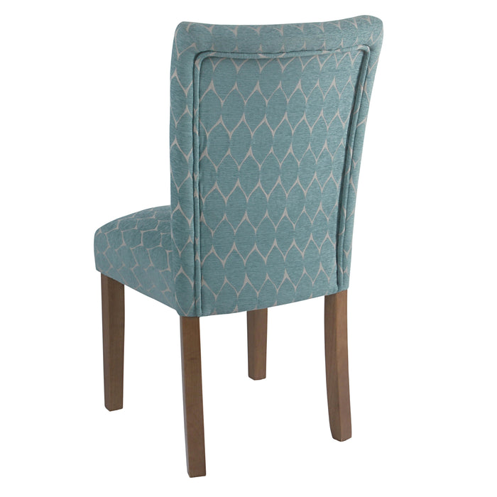 Textured Parsons Chair - Teal Geometric - Set of 2