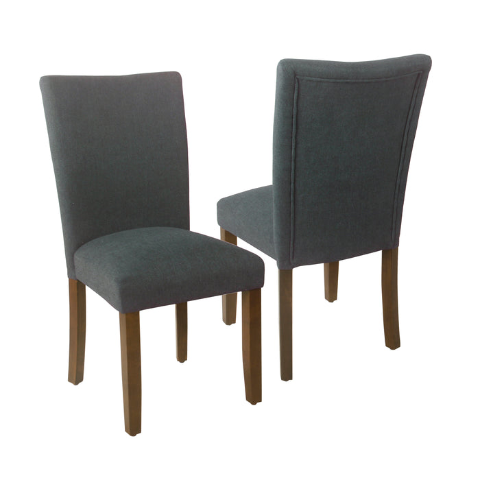 HomePop Classic Parsons Dining Chair - Navy Woven (Set of 2)