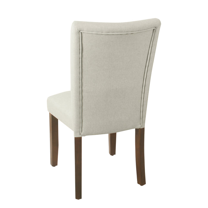HomePop Classic Parsons Dining Chair - Soft Gray Woven (Set of 2)