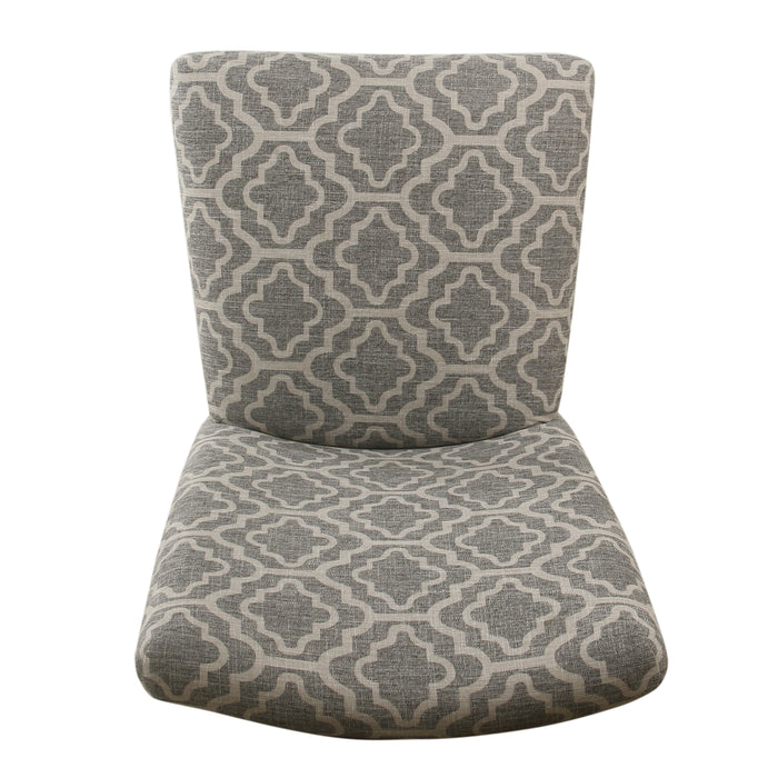 Parsons Dining Chair - Ash Gray Geometric - Set of 2