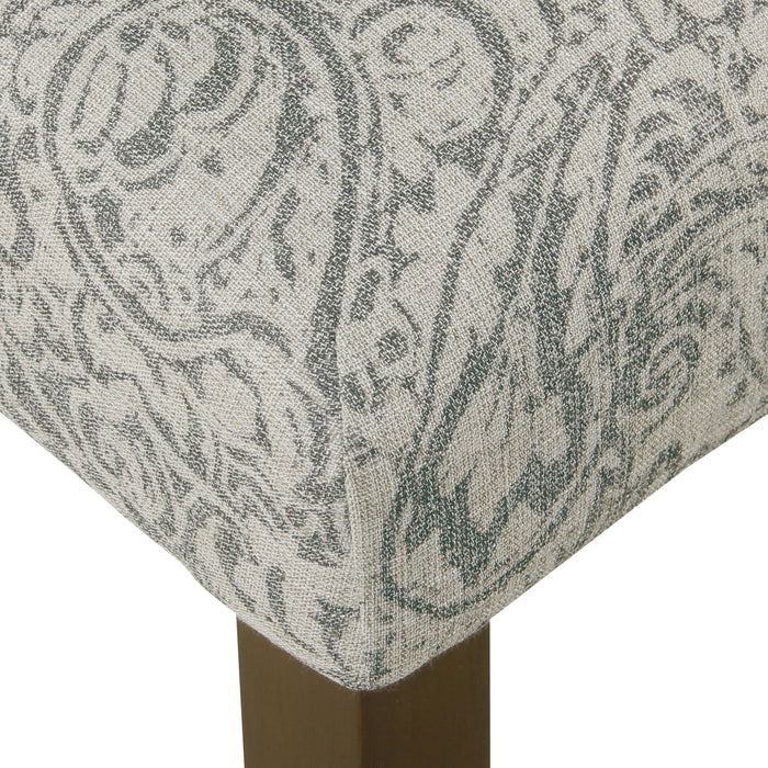 Parsons Dining Chair - Gray Floral - Set of 2
