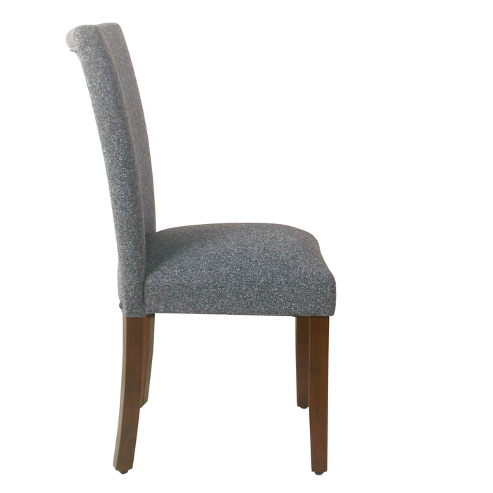 HomePop Classic Parsons Dining Chair -Heathered Gray (Set of 2)